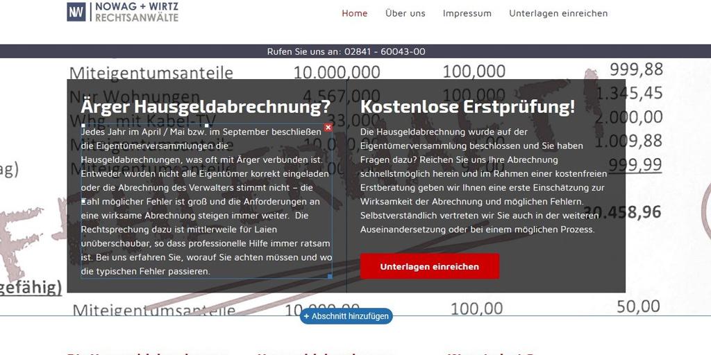 (neue Serie) Die Hausgeldabrechnung - Nowag & Wirtz in Moers
